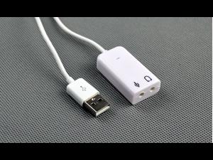 USB 2.0 Virtual 7.1 Channel Audio Sound Card Adapter 3D for XP Windows 7 Mac EXTERNAL LAPTOP HEADPHONE SOUND CARD ADAPTER