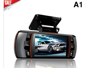 The latest vehicle traveling data recorder rearview mirror integrated machine A1 HD dual lens ultra wide-angle vision driving recorder