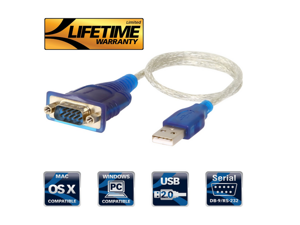 USB 2.0 to Serial (9-Pin) DB-9 RS-232 Converter Cable (CB-DB9P) USB to RS232 USB COM 9 pin to serial conversion line