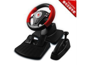 Dillon P3-808 180° game Vibration Racing Steering Wheel (24.5cm) and Pedals for PS2 PS3 PC Win98/2000/XP/2003/Vista/Win7 USB