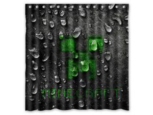Minecraft Game Design Polyester Fabric Bath Shower Curtain 180x180 cm Waterproof and Mildewproof Shower Curtains Pattern01