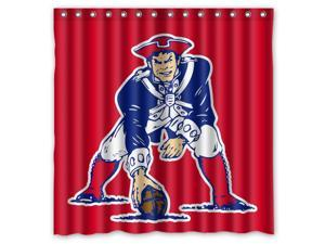 New England Patriots Design Polyester Fabric Bath Shower Curtain 180x180 cm Waterproof and Mildewproof Shower Curtains
