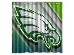 Philadelphia Eagles 01 NFL Design Polyester Fabric Bath Shower Curtain 180x180 cm Waterproof and Mildewproof Shower Curtains Pattern01