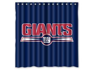 New York Giants 03 NFL Design Polyester Fabric Bath Shower Curtain 180x180 cm Waterproof and Mildewproof Shower Curtains Pattern01