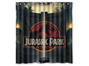 Jurassic Park Door Design 66x72 Inch Bath Shower Curtains