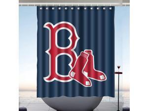 Boston Red Sox 01 MLB Bath Shower Curtain 60x72 Inch