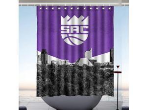 Sacramento Kings 01 NBA Fans Bath Shower Curtain 60x72 Inch