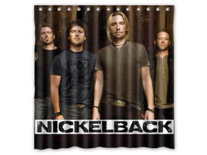 Nickelback Band 01 Design Polyester Fabric Bath Shower Curtain 180x180 CM