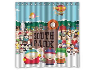 South Park 01 Design Polyester Fabric Bath Shower Curtain 180x180 CM