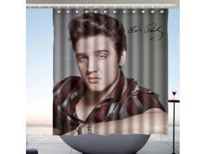 Elvis Presley Fans Bath Shower Curtain 66x72 Inch