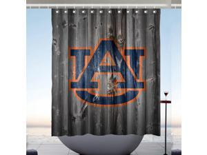 Auburn Tigers NCAA Design Polyester Fabric Bath Shower Curtain 60x72 Inch