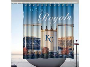 Go Kansas City Royals Fans Bath Shower Curtain 66x72 Inch
