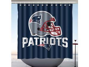 New England Patriots NFL Design Polyester Fabric Bath Shower Curtain 180x180 CM