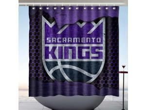 Sacramento Kings NBA 01 Design Polyester Fabric Bath Shower Curtain 180x180 CM