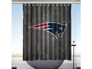 New England Patriots NFL Design Polyester Fabric Bath Shower Curtain 60x72 Inch