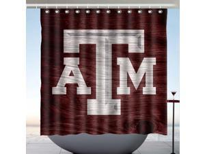 Texas A&M Aggies Design Polyester Fabric Bath Shower Curtain 180x180 CM