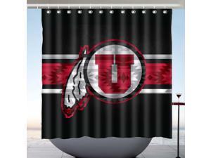 Utah Utes 03 Design Polyester Fabric Bath Shower Curtain 180x180 CM