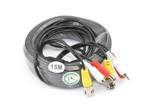 iKKEGOL 49ft 15M Video Audio 12V Power DVR Security CCTV Camera RCA BNC Cable Cord Lead