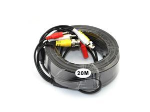 iKGOL 66ft 20M Video Audio 12V Power DVR Security CCTV Camera RCA BNC Cable Cord Lead