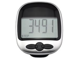 iKKEGOL LCD Run Step Pedometer Walking Mile Kilometer Calorie Distance Counter Fitness Sports Exercises - Black