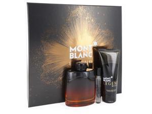 Montblanc Legend Night by Mont Blanc Gift Set -- 3.3 oz Eau De Parfum Spray +.25 oz Mini EDP Spray + 3.3 oz After Shave Balm for Men