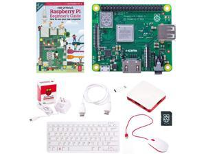 Raspberry Pi 3A+ Full Desktop Official Starter Kit w/Pi 3 Model A Plus Boards, 16GB Micro SD Card, USB Mouse, USB Keyboard, Power Supply, Case and HDMI Cable - Just Connect to HDMI Display