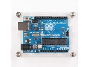 SunFounder R3 Case Enclosure New Transparent Gloss Acrylic Computer Box Compatible with Arduino R3