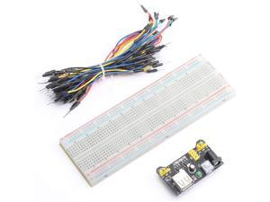 DEVMO 400/830 MB102 Point Breadboard 1660 Power Supply Module Tie Points Solderless Jumper Cables Jump Wire Compatible with Arduino