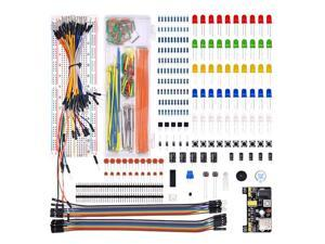 MB102 BREADBOARD CAPACITOR LED BUZZER RESISTOR ELECTRONIC COMPONENT SET KIT ALL