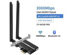 COMFAST AX200 PRO Pcie WiFi Card 2.4G/5G Dual Band Bluetooth 5.0 PCI Express Wireless Network Card Adapter for Win 10 Desktop PC