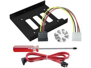"""IT OSAYDE 2.5"""" to 3.5"""" Internal SSD/HDD Metal Adapter Holder Sata Cable +4Pin to 15Pin Power Cable+Tools"""