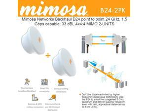 Mimosa Backhaul B24 2-Units Point to Point 24 GHz 1.5 Gbps Capable 33 dBi 4x4:4 MIMO