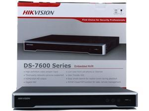 HIKVISION H.265 8-Channel PoE 4K Network Video Recorder NVR, Embedded Plug & Play - DS-7608NI-K2/8P