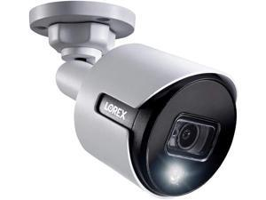 Lorex C581DA Indoor/Outdoor 2K 5MP Super Analog HD Active Deterrence Bullet Camera, 2.8mm, 135ft IR Night Vision, Color Night Vision,Works with D841/D841B Series, ACJNCD3B, Only Camera, White