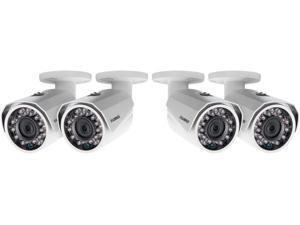1080p HD weatherproof night vision security cameras 4 pack