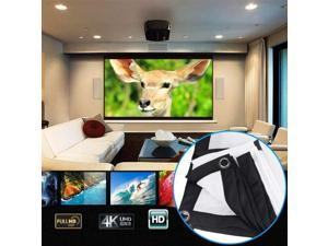 """Projector Screen Movie Screen 60"""" Homemaxs 4:3 HD Foldable Anti-Crease Portable Projector Movie Screen for Home Theater Indoor Outdoor Movie Screen Support Double-Sided Projection (47.2"""" x 35.4"""")"""