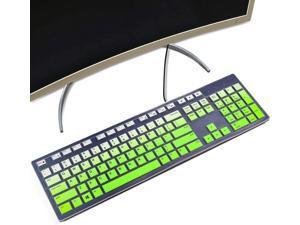 imComor Keyboard Cover for Dell KM636 Wireless Keyboard & Dell KB216 Wired/Dell Optiplex 5250 3050 3240 5460 7450 7050/Dell Inspiron AIO 3475/3670/3477 All-in one Desktop Keyboard Skin, Ombre Purple