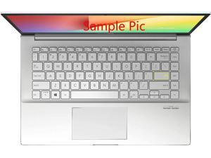 "LEZE - Keyboard Cover Compatible with 14"" ASUS VivoBook S14 S433, ZenBook 14 Q407IQ, VivoBook Flip 14 TM420IA Laptop - Clear"