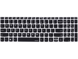 MOSISO Keyboard Cover Skin Compatible with Lenovo IdeaPad 320 330 330s 340s 520 720s 130 S145 L340 S340 15.6 inch, 2019 2018 Lenovo IdeaPad 15.6 inch, Lenovo IdeaPad 320 330 17.3 inch Laptop, Black