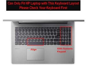 Keyboard Cover for 2020 2019 15.6 17.3 Inch New Lenovo IdeaPad 3 /IdeaPad 5 /IdeaPad S340 S540 15.6 Inch Keyboard Protective Cover Skin -Clear