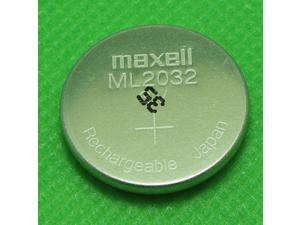 MAXELL ML2032 ML 2032 RECHARGEABLE 3V BUTTON COIN CELL CMOS BATTERY