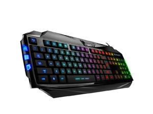 Genius K5 Colorful LED Illuminated Ergonomic Backlight Game USB Wired Keyboard