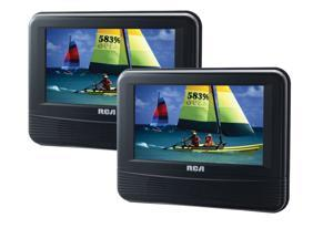 "RCA DRC69705E Car Portable DVD Video Player Twin Mobile 7"" LCD Remote Travel"