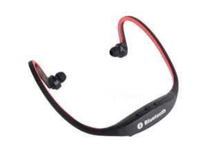 """E-buy World"" Bluetooth Wireless Headset Stereo Headphone Earphone Handfree Sport Universal Red"