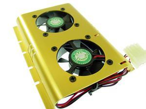 """E-buy World"" SHDC-B Dual 50mm Ball Bearing Fan Hard-Drive Cooler"