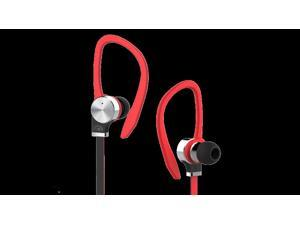 Fuji Labs Red AUFJ-SQWTS306RE 3.5mm Connector Sonique SQ306 Premium Titanium In-Ear Headphones with In-line Mic