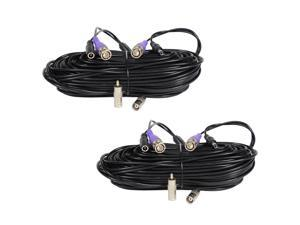VideoSec 2x 100ft HD Security Camera BNC Video Power Cable Pre-made All-in-One Extension Wire Cord for CCTV DVR Surveillance System HD Security Camera 960P/720P, AHD, CVI, TVI and Analog Camera B6I