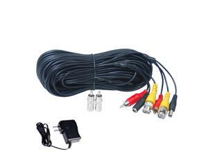 150 ft HD Security Camera Cable Audio Video RCA CCTV DVR Wire /& Power Supply wuy