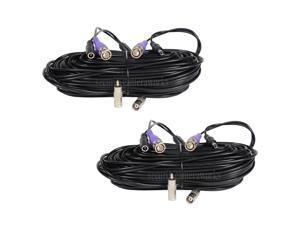 VideoSec HD Security Camera BNC Video Power Cable 2x 100ft Pre-made All-in-One Extension Wire Cord for CCTV DVR Surveillance System HD Security Camera 960P/720P, AHD, CVI, TVI and Analog Camera 1Q7
