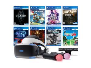 PlayStation VR 11-In-1 Deluxe 8 Games Bundle: VR Headset, Camera, Move Motion Controllers, Skyrim, Resident Evil 7, Firewall Zero Hour, Battlezone, RIGS, Until Dawn, Blood & Truth, Everybody's Golf